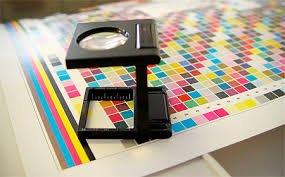 printers sheet with eye glass