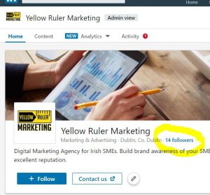 how to see who is following your LinkedIn Company page