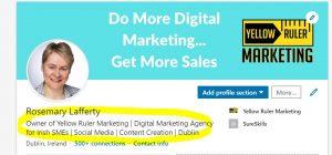 LinkedIn header optimise